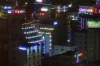 View of nightlife in Haeundae from our hotel room, Busan, South Korea