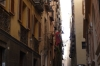 Narrow streets in the ancient town of Cagliaro