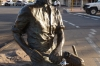 Water bubbler and statue commemorating Paddy Hannan who discovered gold at Kalgoorlie
