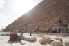 Pyramids of Giza, largest is Pyramid of Khufu