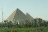 Pyramids of Giza EG, with suburbia encroaching