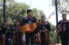 Young Mexican band for 5 May celebrations, Los Angeles CA USA