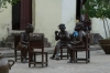 Street sculptures by Martha Jimenez Perez in Plaza del Carmen, Camaguey CU