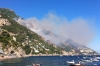 Wild Fire near Positano.  They came with water bombing planes to extinguish it next day