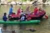 Rafting down the Vltava River in Český Krumlov