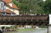 Pedestrian bridge over the Vltava River in Český Krumlov