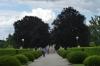 The gardens of the Český Krumlov castle CZ