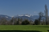"Looking towards the French Alps from Chaplin family estate, ""Manoir de Ban"" in Corsier-sur-Vevey CH"