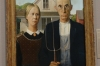 Grant Wood's American Gothic. Art Institute, Chicago