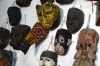 Masks at Moreria Santo Tomas - made by Miguel Ignacio