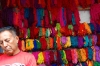 Colourful threads. Market day in Chichicastenango