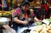 Fruit and vegetable market. Market day in Chichicastenango
