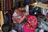 Embroidery. Market day in Chichicastenango