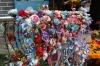 Floral coronets were popular. Ciqikou Ancient Town, Chongqing, China