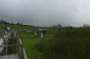 Elevated walkway. A walk around Laguna da Busa (lake) EC