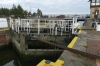 The lock at Oulton Broad near Lowestoft UK