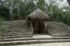 Stele in the Macanxoc group. Ancient Ruins of Coba