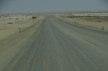 The coastal road north of Swakopmund, Namibia. It is a salt road.