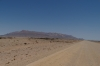 Flat desert looking towards Brandenberg Mountain, Namibia