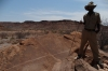 Our guide, Quinton, Rock Art (pertoglyphs) at Twyfelfontein, Namibia