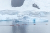 Kayakers around Danco Island in the Errera Channel, Antarctica