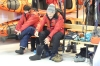Preparing for our next outing in the Mud Room on the SS Expedition, near George's Point, Antarctica