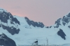 MS Expedition and the sunset from the campsite at Leith Cove in Paradise Bay. Antarctica