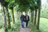 Bruce & Thea in the gardens at Athelhampton House, Dorset GB