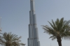 Burj Khalifa - world's highest building, Dubai. The black spots on the second level is an army of window cleaners