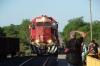 Copper Canyon train arrives at El Fuerte station