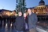 Bruce, Martine & Denis at Traflagar Square