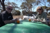 Lunch at Fraser Range WA AU, Nullarbor Plain