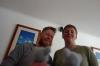 Evan & Steph with the Sunday wedding cake