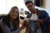 Sarah & Alex with Frankie