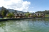 San Pablo Lake at Hosteria Puertlago, near Otavalo EC