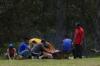 Family picnic at Peguche Falls EC