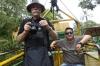 Bruce & Jose, Tarabita (cable car) ride, Casacada Reina excursion EC