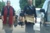 Funeral procession in the village of Kanokupolu at the western end og Tongatapu Island, Tonga