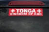 Appropriate bumper sticker in Tonga
