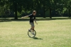 Hayden tames the unicycle