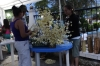 Preparing flowes at the church in Flores