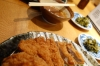 How to eat Tonkatsu in Kyoto (station) Japan.