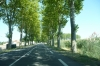French country road - what else would you expect?