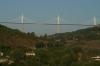 Millau viaduct from Chateau de Creissels, Millau en Aveyron FR