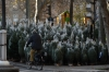Christmas trees for sale in Boulevard Henri IV