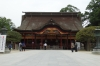 The honden, or main shrine at Dazaifu, Japan