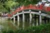 Ponds and bridges in front of the Dazaifu Tenman-gū (shrine), Japan