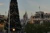 Dusk in the square at Disney World Magic Kingdom FL