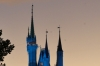 Cinderella Castle at dusk, Disney World Magic Kingdom FL