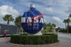 Entrance to the Kennedy Space Center FL